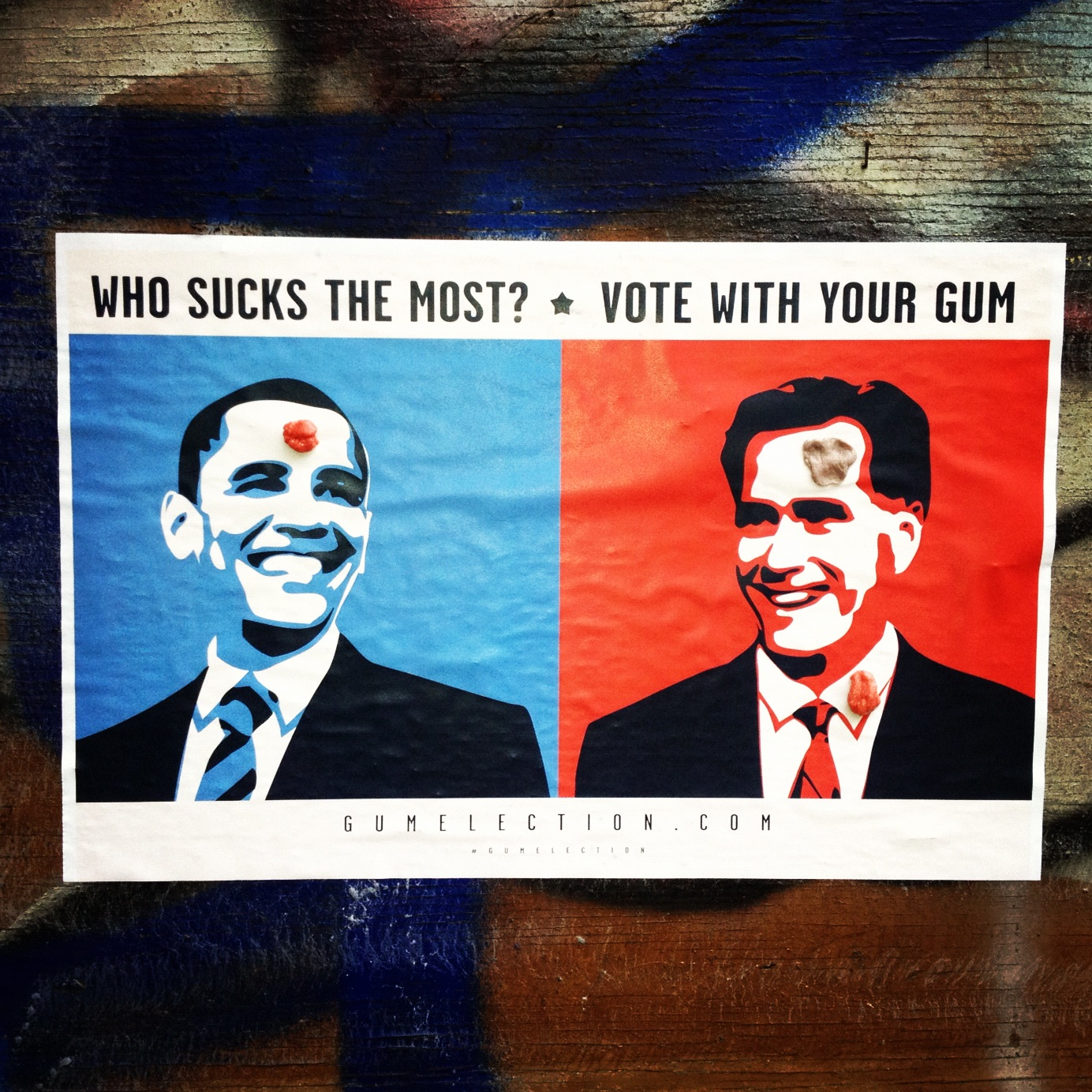 Obama Versus Romney - Vote With Your Gum!