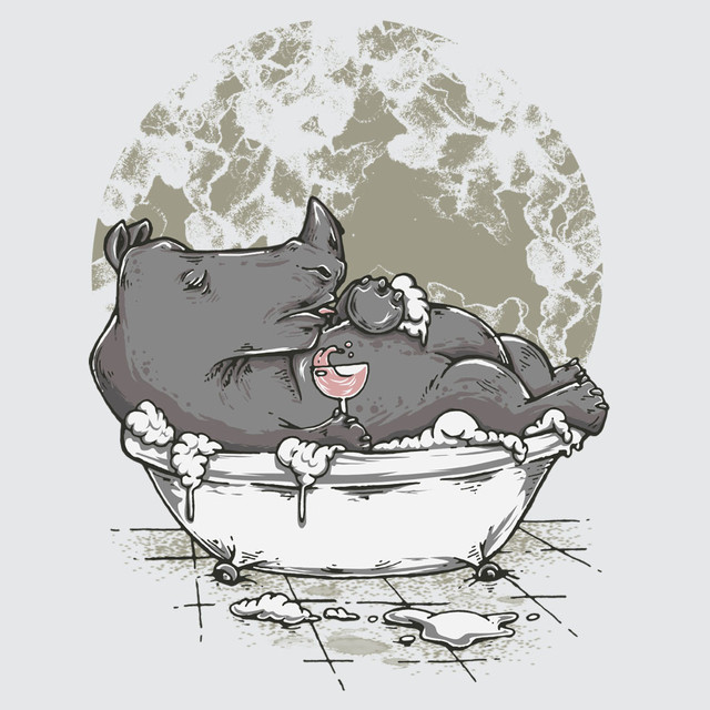 Bathingrhino
