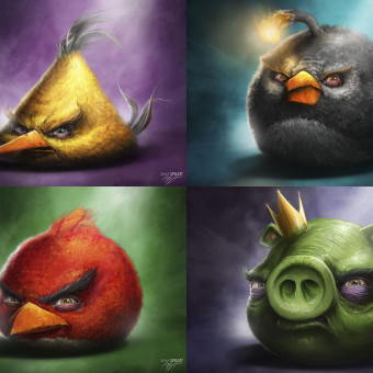 Angry Birds Illustration