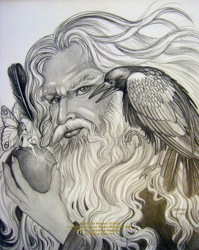 Wizard Pencil Drawing