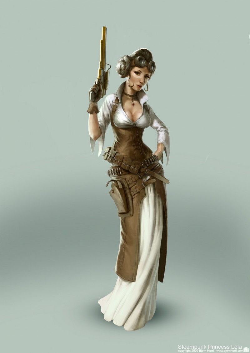 Steampunk Star Wars - Leia