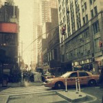 New York city. Street. Old style