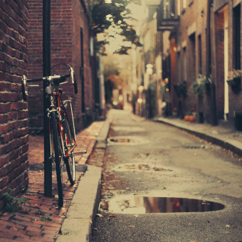 The bicycle in Boston