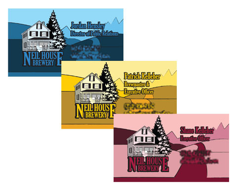 Neil House Brewery Business Cards