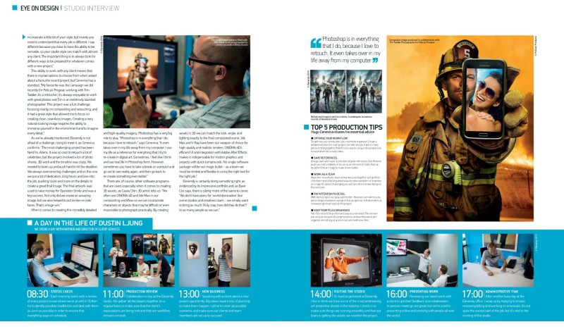 Elevendy Interview in Advanced Photoshop Magazine