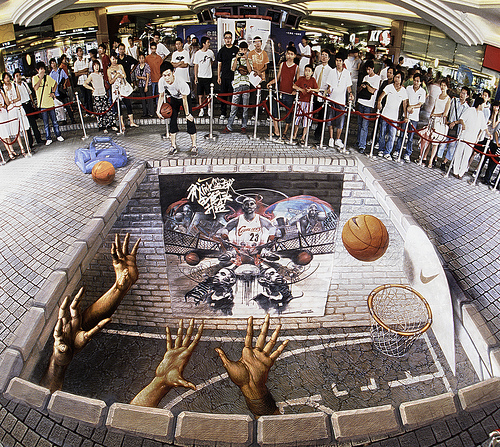 Amazing 3D Sidewalk Art