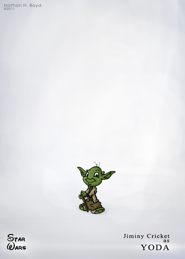 Jiminy Cricket as Yoda