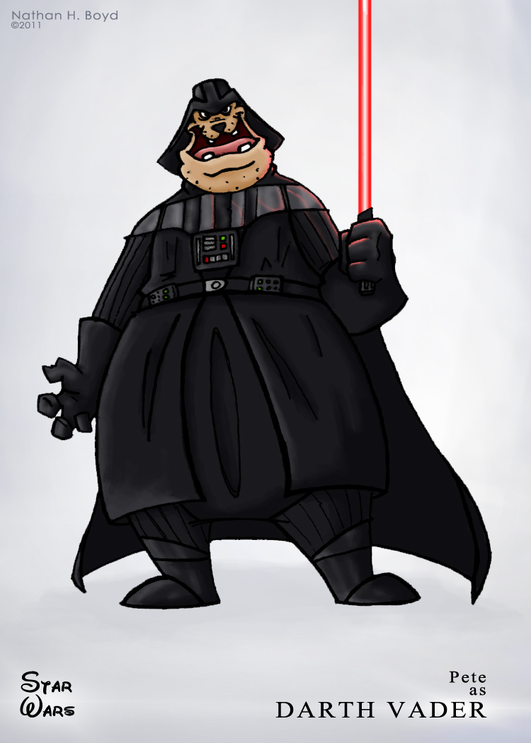 Pete as Darth Vader