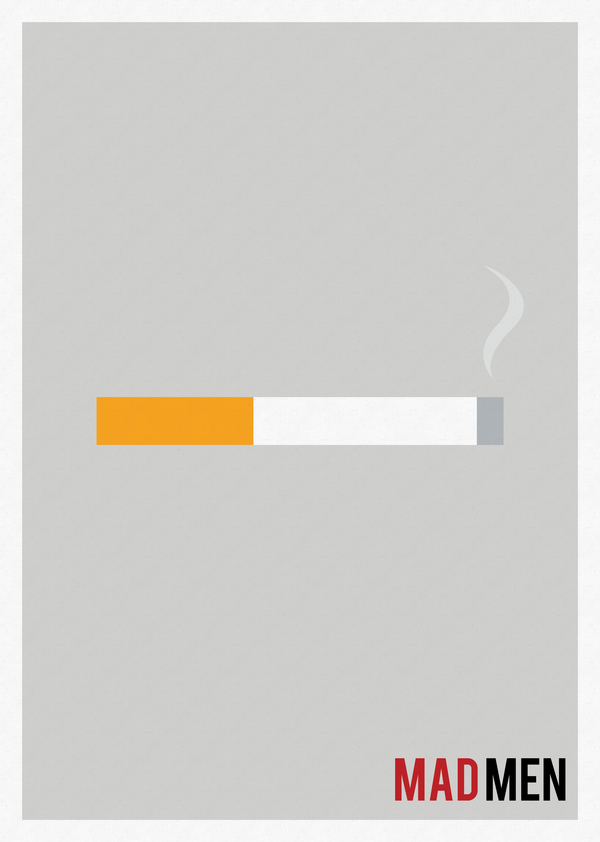 Minimalist tv shows posters by marisa passos thearthunters for Minimal art generator