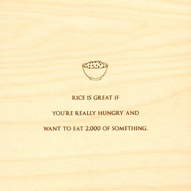 Mitch Hedberg Quote Etched in Wood