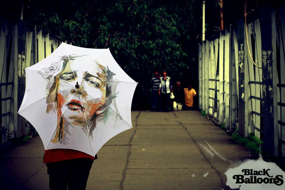 Stylish Hand Painted Umbrellas